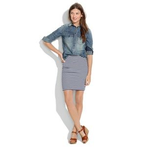 🆕{Listing} Madewell Striped Downtown Skirt